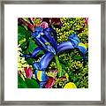 Exotic Blue Framed Print