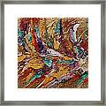 Exotic Flower Abstract Painting Framed Print