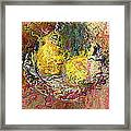 Expressionist 2 Messy Pears Framed Print