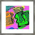 Extrusion Detail Framed Print