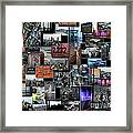Eyes Down From The 103rd Floor Collage Framed Print
