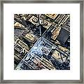 Eyes Down From The 103rd Floor One Small Step Framed Print