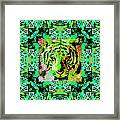Eyes Of The Bengal Tiger Abstract Window 20130205m180 Framed Print by Wingsdomain Art and Photography