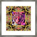 Eyes Of The Bengal Tiger Abstract Window 20130205p80 Framed Print by Wingsdomain Art and Photography