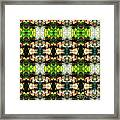 Face In The Stained Glass Tiled Framed Print