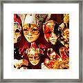 Faces Of Carnavale Framed Print
