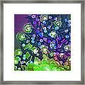 Fairy Light Garden Green By Jrr Framed Print