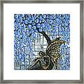 Fairy Under Blue Blossom Framed Print