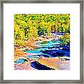 Fall Drought @ Ashokan Framed Print