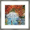 Fall Fishing Framed Print