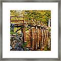 Fall Foliage Over The North Bridge Framed Print