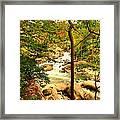 Fall River Running Framed Print