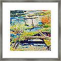 Fall River Scene Framed Print