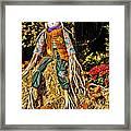 Fall Scarecrow Framed Print