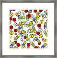 Falling Pills Framed Print