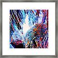 Falling Through Fire Framed Print