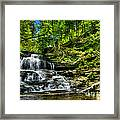 Falls And Steps Framed Print