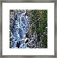 Falls Freezing Framed Print