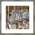 Fanciful Carousel Ponies Framed Print