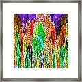Fanciful Colors  Abstract Mosaic Framed Print