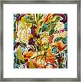 Fantasy Floral 1 Framed Print by Carole Goldman
