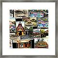 Fantasyland Disneyland Collage Framed Print