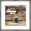 Farm Boys Country Exchange Framed Print by Randall Branham