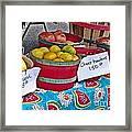 Farm Fresh Produce At The Farmers Market Framed Print