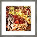 Farmers Market Framed Print by Karen Wiles