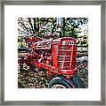 Farmers Tractor Framed Print