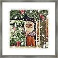 Father Christmas In The Snow Framed Print