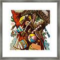 Father Christmas With Presents Framed Print