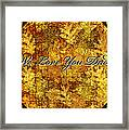 Father's Day Greeting Card Iv Framed Print