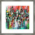 Favelas - Abstract Art By Laura Gomez Framed Print