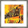 Feel Emotion Yellow And Black Framed Print