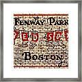 Fenway Park Boston Redsox Sign Framed Print