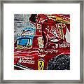 Fernando Alonso And Ferrari F10 Framed Print