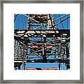 Ferris Wheel At Vienna Prater Framed Print