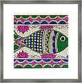 Festive Fish Framed Print