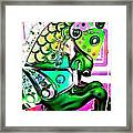 Festive Green Carnival Horse Framed Print
