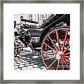 Fiaker Carriage In Vienna Framed Print