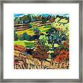 Fields In Autumn Framed Print