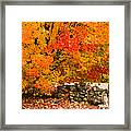 Fiery Rock Wall Framed Print