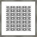 Figure 8 Black And White Pattern Framed Print