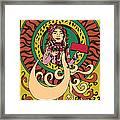 Stick  Girl Framed Print