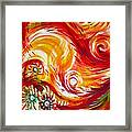 Fire Bird. Zhar Ptitsa.triplych Panel 1 Framed Print