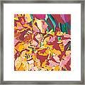 Fire Bouquet Framed Print