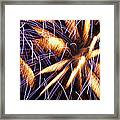 Fire Palms Framed Print