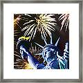 Fires Of Liberty Framed Print