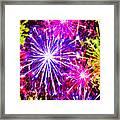 Fireworks At Night 7 Framed Print
